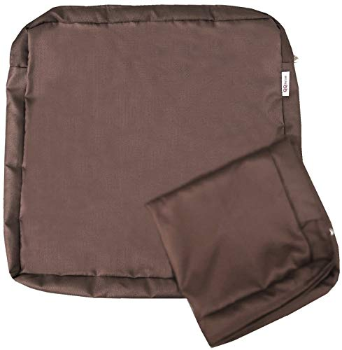 QQbed 4 Pack Outdoor Patio Chair Waterproof Cushion Pillow Seat Duvet Covers in Cocoa Brown Color 24