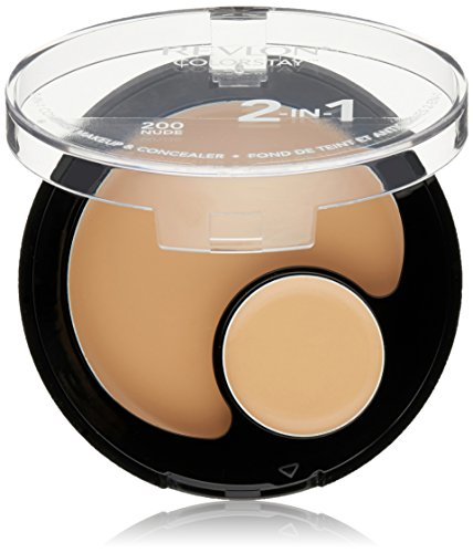 Revlon Colorstay 2-in-1 Compact Makeup & Concealer, Nude, 0.38 Ounce