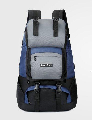 Mochilas de senderismo, bolsas, bolsas de senderismo, bolsas al aire libre, impermeable Mochila de viaje al aire libre senderismo bolsa bolso de viaje Outdoor montañismo hombres y mujeres hombros,amar Navy Blue