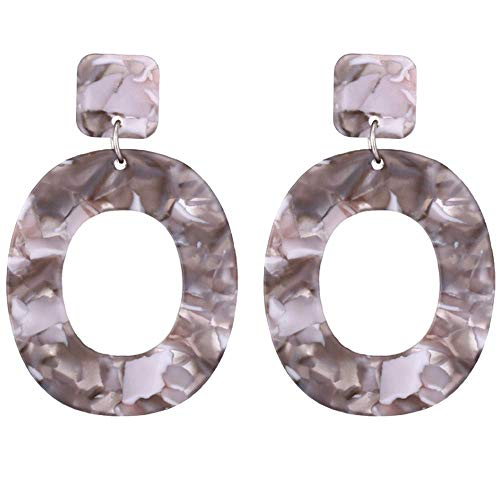 Acrylic Earrings for Women Fashion Cellulose Acetate Oval Earrings