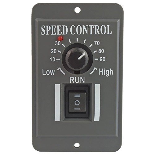 uniquegoods 12V 24V 36V 48V 6A DC Motor Speed Controller Adjustable Reducer Control Switch With ()