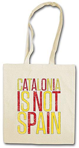 CATALONIA IS NOT SPAIN HIPSTER BAG BEUTEL STOFFTASCHE EINKAUFSTASCHE