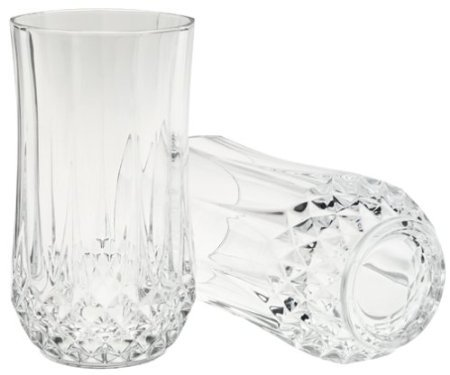 Arc International Cristal D'arques Longchamp Diamax Hi-ball Glass, 12 Ounce, Set of Set 4 Hi Ball Glass Set