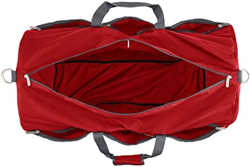 AmazonFundamentals Large Travel Luggage Duffel Bag, Red