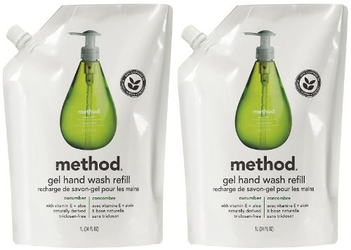 Method Gel Hand Wash Refill Pouch - Cucumber - 34 oz - 2 pk