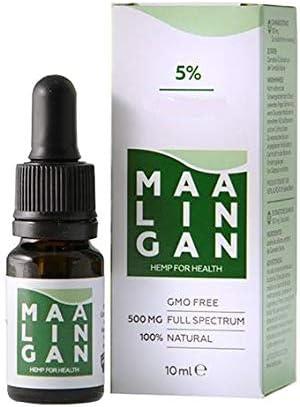 Maalingan 500 mg (5%) Aceite de cáñamo de espectro completo, ideal para dormir y relajarse