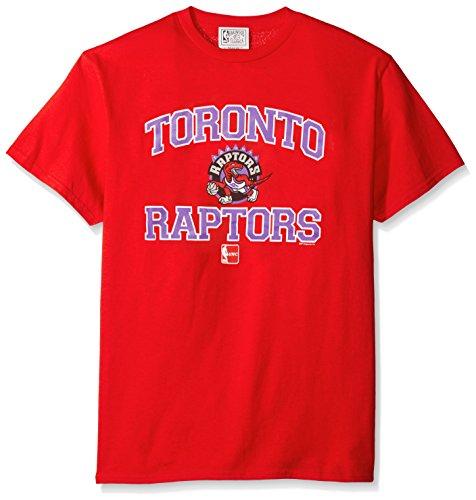 NBA Toronto Raptors 95-08 Men's Majestic Athletics Heart and Soul Short Sleeve Crew Neck T-Shirt, XX-Large, Red