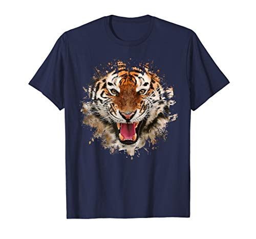 (Tiger Face (Painterly) T-Shirt for Animal Lovers)