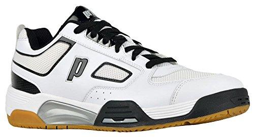 Chaussure De Cour Intérieure Prince Nfs Assault Mens (8, Blanc / Noir / Argent)