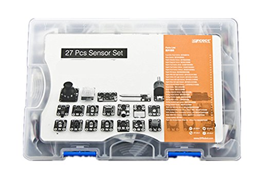 DF 27 Pcs Sensor Set For Arduino/24 Kinds Of Sensors Simple And Practical, To Capture More Information/Light Perception Perception Of Sound Distance Perception Magnetic Sensing Acceleration Sensing by D&F