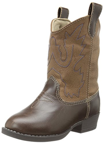 Baby Deer Western Boot (Infant/Toddler),Brown,6 M US Toddler