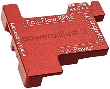 Red Aquacomputer Passive Heat Sink for PowerAdjust 3