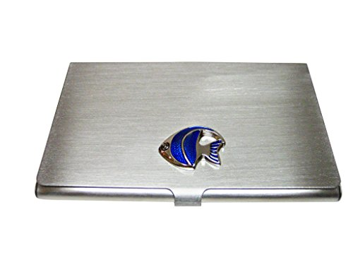 (Blue Tropical Fish Business Card Holder)