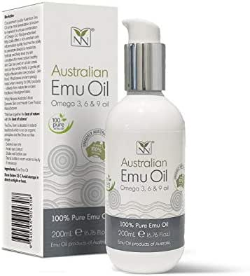 Ultra Pure Australian Emu Oil - 6.8 ounce - Luxury, Pharmaceutical Grade Emu Oil for Hair, Skin, and Scalp