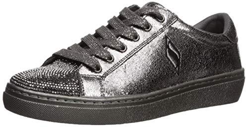 Skechers Women's Goldie-No Place Like Chrome. Tonal Metallic Rhinestone Toe Sneaker, Pewter 10 M US ()
