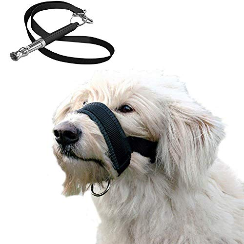 Finger Mouth Whistle - Hamiledyi Dog Muzzle Extra Soft Padded Large Nylon Dog Muzzle Loop Dog Whistle(Pack of 2)