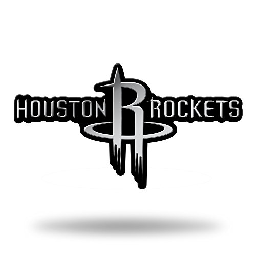 Rico Industries NBA Houston Rockets Chrome Finished Auto Emblem 3D Sticker