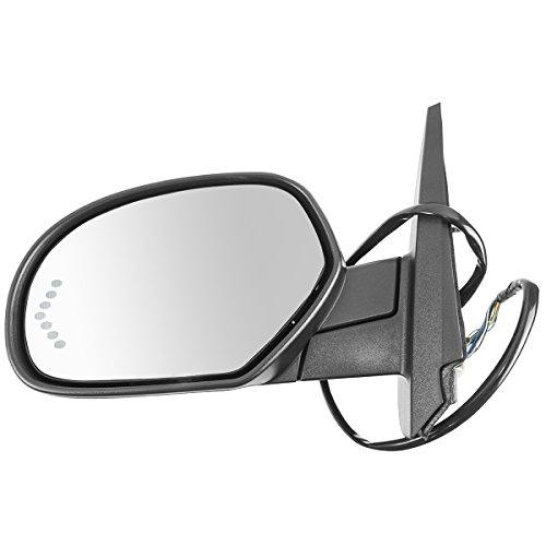 Mirror Power Folding Heated Signal Memory Textured Black Left LH for GM - Mirror Folding Power