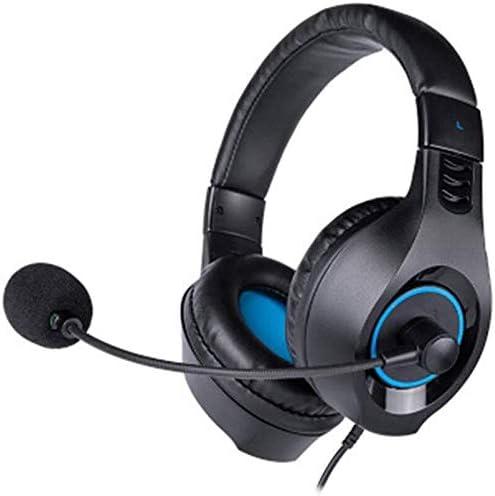 HNSYDS ブラックヘッドマウントゲームヘッドセットは、快適で通気性着用するヘッドセットのコンピュータのヘッドセットとUSBケーブルを調整することができます ゲーミングヘッドセット