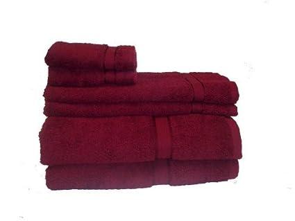 Prestige 100% algodón egipcio de rayón Dobby 6 piezas Juego de toallas, pintalabios por