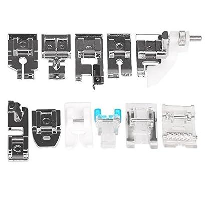 Hensych® 11 piezas multifuncional prensatelas para piezas de repuesto accesorios juego de pies prensatelas para