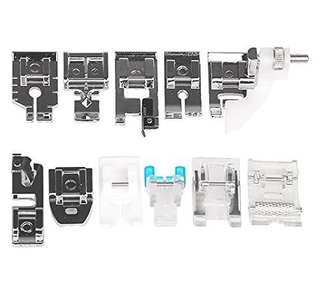 Hensych® 11 piezas multifuncional prensatelas para piezas de repuesto accesorios juego de pies prensatelas para máquina de coser Brother Singer: Amazon.es: ...