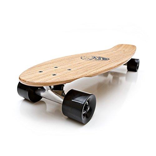 White Wave Bamboo Longboard Skateboard (Missile)