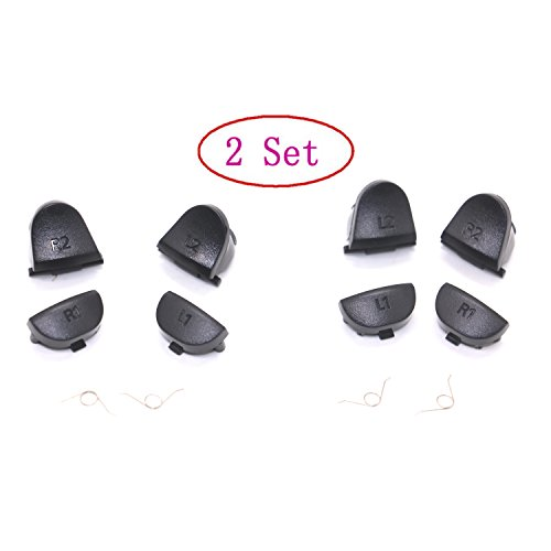 Ps/2 Replacement - 2 Set of 2 Groups Trigger Buttons+2 Springs Replacement Parts For PlayStation 4 PS4 L2 R2 L1 R1
