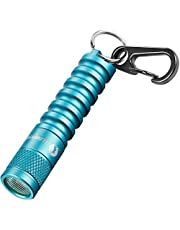 led Keychain Flashlight Torch,mini keyring flashlight Torch-LUMINTOP EDC01,120 lumens portable EDC small Flashlight Torch,36 hours Long lasting,3 modes,IPX8 Waterproof,Powered by AAA battery Perfect for EDC ,Dog Walking ,Camping , Hiking etc(Blue)