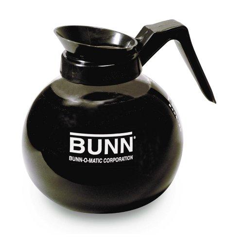 Oz 64 Coffee Black Decanter (BUNN 64 Oz Black 12-Cup Coffee Decanter / Case of 3)
