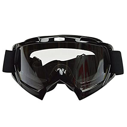 JOLIN Gafas de seguridad Gafas de sol Gafas de esquí a prueba de viento (Marco negro, lente transparente)