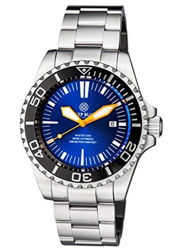 - Deep Blue Master 2000 Diver Automatic Blue Dial Watch M2KOMBLKBLUESUNORG