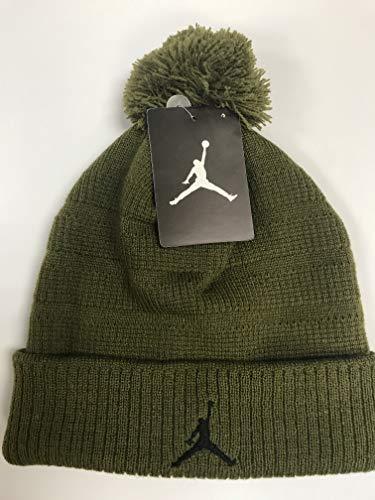 37847adc5a5 Nike Jordan Jumpman Boys Winter Ski Snowboard Cuffed Hat Ribbed Pom Beanie