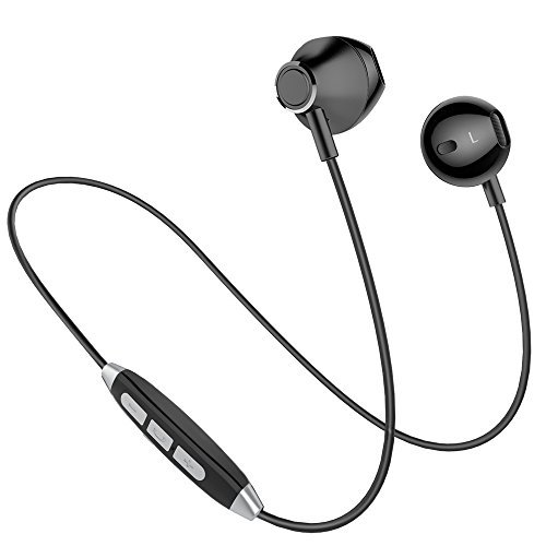 Bluetooth Headphones, Bluetooth Earbuds, Wireless Earbuds, in-Ear HD HiFi Stereo Earphones with Mic, Secure Fit, Noise Cancelling, Sweatproof, Magnetic, Lightweight, for Gym, Running