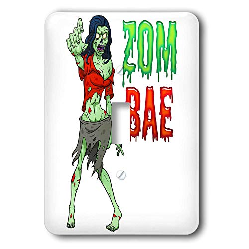 3dRose Carsten Reisinger - Illustrations - Zombae Funny Halloween Zombie Woman - Light Switch Covers - single toggle switch (lsp_294850_1)]()