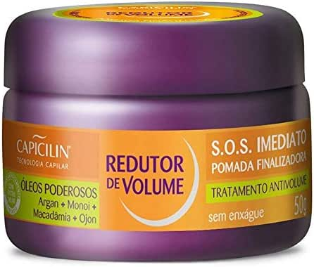 Linha Redutor de Volume Capicilin - Pomada S.O.S. Imediato 50 Gr - (Capicilin Volume Reducer Collection - Immediate S.O.S. Finishing Pomade Net 1.76 Oz)