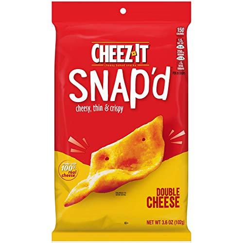 Cheez-It Snap'd Double Cheese Cheesy Baked Snacks, 3.6 oz