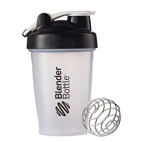 BlenderBottle Classic Loop Top Shaker Bottle, Clear/Black, 20-Ounce Loop Top