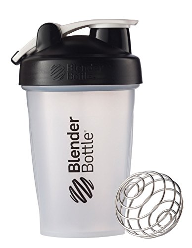Blender Bottle Classic Loop Top Shaker Bottle, 20-Ounce, Clear/Black