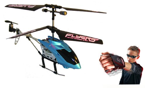 Falcon 3d Rc Helicopter - Force Flyers Motion Controlled Helicopter with Glove Force Technology