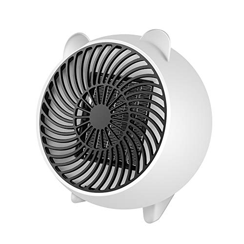 soled Space Heater, Fan Heater, Personal Mini Space Heater Portable Electric Heaters Fan with PTC Ceramic Heating Element & Overheat Protection for Office, Home, Tabletop Under Desk Floor Indoor Use