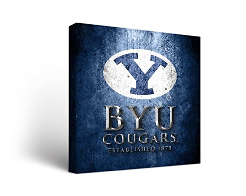 - Victory Tailgate Brigham Young University BYU Cougars Canvas Wall Art Museum Design (24x24)
