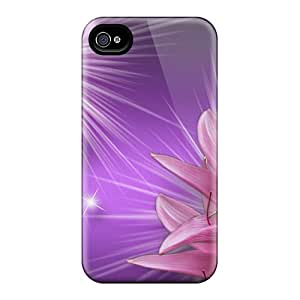 Anti-scratch And Shatterproof Gorgeous Pink N Purple Phone Case For Iphone 4/4s/ High Quality Tpu Case