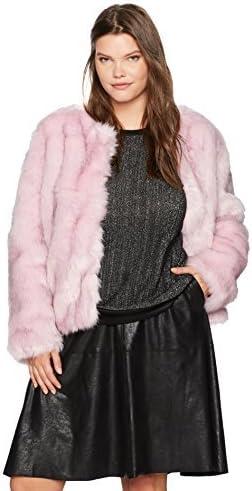 Rebel Wilson X Angels Womens Plus Size Faux Fur Jacket