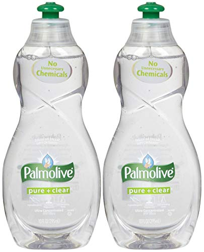 Palmolive Dishwashing Detergent (Palmolive Ultra Dish Washing Liquid Pure+clear, 10oz - 2 Pack...)