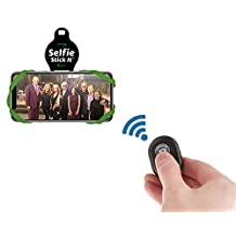 Selfie Stick-It - Convert Any Surface Into An Instant Photo Booth - Wireless Selfie Stick - Bluetooth Selfie Stick - Anti Gravity Phone Case - Stickable Phone Mount - As Seen On TV (Green)