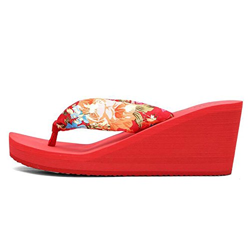 10da00e69 Chancletas blue eu39 Verano Cuña Anti Chancla Shangxian Red Mujeres Playa  cn39 Zapatos Moda deslizante Sandalia ...