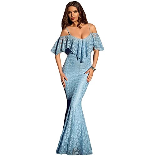 likeyou-womens-spaghetti-straps-ruffled-off-shoulder-light-blue-mermaid-dress-size-m