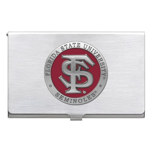 Pewter Florida State University Business Card Case 1pc