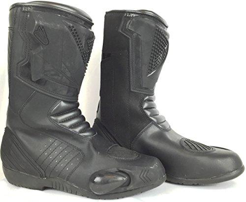Labo Labo Men's Black Motorcycle Bike Boots Genuine Leather Waterproof 3M Reflective 11605903-41